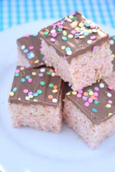 Rainbow Rice Krispies Treats ~ eat sweet. by carla sue