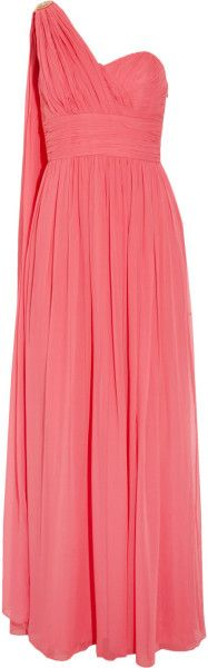 Love this: One Shoulder Embellished Silk Chiffon Gown @Lyst    jaglady