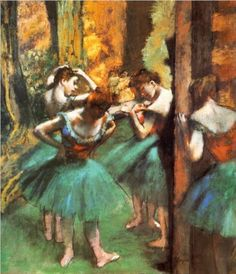 Dancers, Pink and Green: 1890 by  Edgar Degas (The Met, NYC, NY) - Impressionism