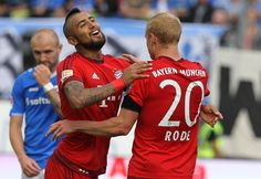 @Bayern Arturo Vidal und Sebastian Rode #9ine