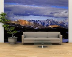 Clouds over Snowcapped Mountains, Fjallabak, Central Highlands, Iceland Wall Mural – Large en AllPosters.es