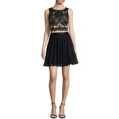 Love Reigns Sleeveless Sequin-Top 2-pc. Dress - Juniors ($80) ❤ liked on Polyvore featuring dresses, sleeveless cocktail dress, love reign dresses, sequin dresses, 2 piece dress and no sleeve dress