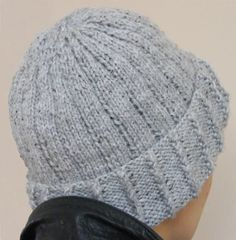 Knotted Rib Hat Knit side See other ideas and pictures from the category menu…. Beanie Knitting Patterns Free, Beanie Pattern Free, Free Knitting, Free Pattern, Easy Knit Hat, Knit Hat For Men, Knitted Hats, Knit Or Crochet, Crochet Hats