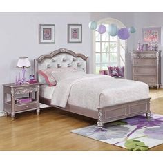 Coaster Furniture Caroline Storage Bed with Diamond Tufted Headboard, Size: Twin Bed Upholstered Platform Bed, Upholstered Beds, Arley Queen, Full Bed With Storage, Bedroom Furniture, Bedroom Decor, Bedroom Ideas, Coaster Furniture, Bed Sizes