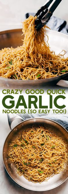 Crazy Good Quick Garlic Noodles - a quick 15 minute recipe for garlic noodles! These noodles are a fusion recipe and have the BEST flavor! #garlicnoodles #quickgarlicnoodles #garlicspaghetti #pasta #noodles   Littlespicejar.comCrazy Good Quick Garlic Noodles - a quick 15 minute recipe for garlic noodles! These noodles are a fusion recipe and have the BEST flavor! #garlicnoodles #quickgarlicnoodles #garlicspaghetti #pasta #noodles   Littlespicejar.com