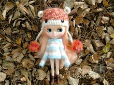 Crochet Hat for blythe dolls by DollsinWonderland on Etsy, $15.00