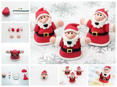 Santa cake decorations