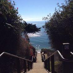 Mesa lane steps Santa Barbara California - great workout. Quite beach and fantastic photos.