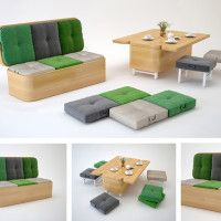 Superior Convertible Sofa Easily Transformed Into A Small Dining Table By Julia  Kononenko Http:// Awesome Ideas
