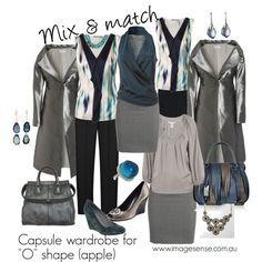 Perfect Apple/O shape capsule wardrobe!