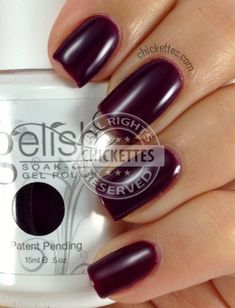 Gelish Plum and Done Swatch Gradient Nails, Gelish Nail Colours, Rainbow Nails, Shellac Nails, Nail Polish Colors, Gel Polish, Nail Polishes, Acrylic Nails, Chrome Nail Polish