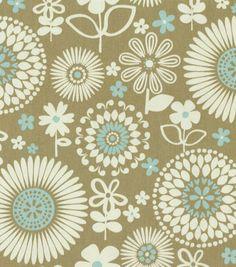 Waverly Home Decor Print Fabric Gemma Latte Bedding Living Room Curtains