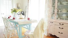 I like to mix pastel paint colors when I redo furniture.
