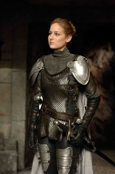"Leelee Sobieski, ""In the Name of the King"", 2008 #armor #sword"