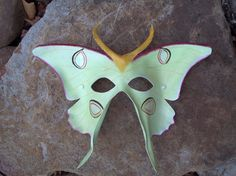 Luna Moth Leather Mask by MythicalDesigns on Etsy, $105.00