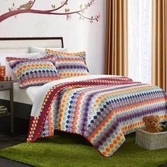 Chic Home Sierra Reversible Quilt Set in Multi - BedBathandBeyond.com
