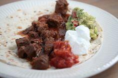 Mexicaans stoofvlees met wraps (excl. tomatensalsa en guacemole; die moet je zelf nog maken)