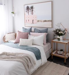 Furniture, Bedroom Themes, Home Bedroom, Comfy Bedroom, Awesome Bedrooms, Bedroom Images, Bedroom Wall, Bedroom Decor, Girl Bedroom Decor