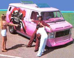 """Custom """"Charlie's Angels"""" Chevy Show Van Customised Vans, Custom Vans, Charlies Angels, 87 Chevy Truck, Chevy Vans, Surf, Vanz, Day Van, Pink Vans"""