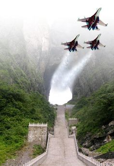 heavens gate china view from above - Google Search