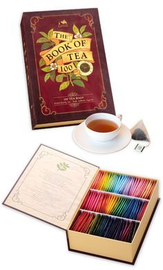 Love this! ... the book of tea 100 tea bags