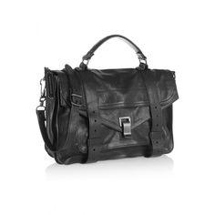 PS1 large leather satchel, Black