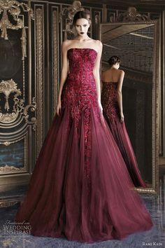 Rami Kadi couture 2012-2013. The only accessories this luscious red gown needs is a pair of Brilliance diamond studs!