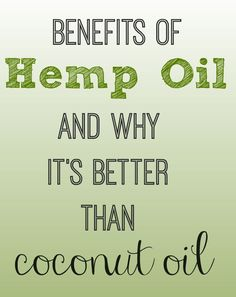 The benefits of hemp oil and why it's great for your skin! And it might just be the new coconut oil...
