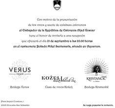 Presentación de vinos y y aceites de Eslovenia, con la asistencia del Embajador, que quiere extender esta invitación a toda la hostelería de la ciudad asociada a Hostelería Gipuzkoa