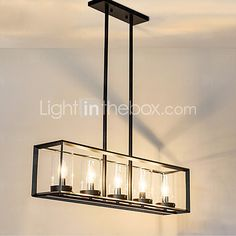 5 Pendant Light Traditional/Classic Painting Feature for Mini Style Metal Living Room / Bedroom / Dining Room - USD $261.59