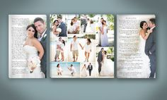 Tripple Photo Wedding Canvas with Center by DesignerCanvases, $375.00