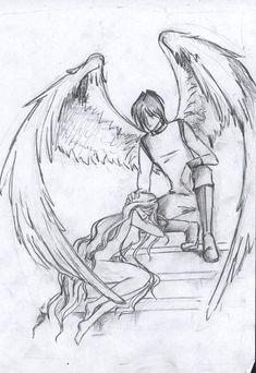 Fallen Angel Wings Drawing   The Fallen Angel by ~Alexiel99 on deviantART