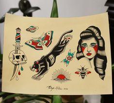Old Tattoos, Tatoos, Traditional Tattoos, Reference Images, Tattoo Drawings, Female Bodies, Piercings, Number, Cards
