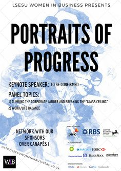 LSESU Women in Business Portraits of Progress Event. Poster 2.