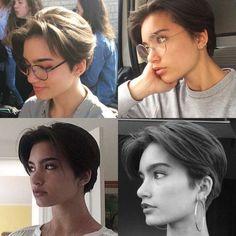 Tomboy Hairstyles, Hairstyles Haircuts, Pretty Hairstyles, Tomboy Haircut, Androgynous Haircut, Shot Hair Styles, Curly Hair Styles, Girl Short Hair, Short Hair Cuts