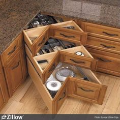I love this idea much better than a lazy Susan.