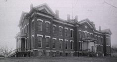 This is the original Fort Omaha Hospital, built in 1879. It was demolished in the 1890s and replaced in 1906.
