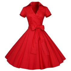 New Maggie Tang Vintage Short Sleeves Swing Rockabilly Ball Party Dress  online. 2b3e3dcd0cb8