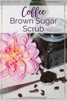 This quick & easy DIY sugar scrub will make you feel so pampered! It only takes 3 ingredients, and one of them is coffee! Perfect for self-care & gifting!
