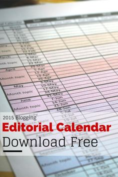 Free Printable Blog Editorial Calendar From The Languid Lion On