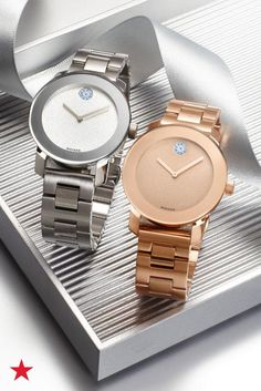 Choose between a rose-gold or silver Movado watch for an unforgettable gift this holiday season. Shop now at Macy's.
