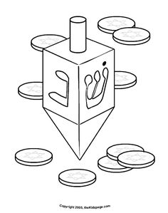Hanukkah Activities for Preschoolers | Hanukkah Driedel - Free Coloring Pages for Kids - Printable Colouring ...