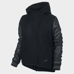 Nike Rival Jacket Wool Leather Black