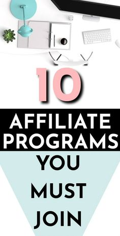 10 EASIEST and best affiliate programs to make money in 2019 The 10 best affiliate marketing program Earn Money Online, Make Money Blogging, Way To Make Money, Money Fast, Money Tips, Earning Money, Online Income, Online Earning, Internet Marketing