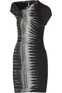 2. Helmut Lang Frequency Asymmetric Modal-Jersey Dress - 7 Monochrome Dresses ... | All Women Stalk