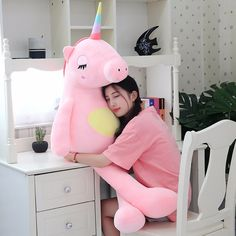 2018 new arrival unicorn plush toys cute rainbow horse soft doll large stuffed a. 2018 new arrival unicorn plush toys cute rainbow horse soft doll large stuffed animal soft toys for Large Stuffed Animals, Unicorn Stuffed Animal, Large Animals, Unicorn Cushion, Cute Bear, Cute Plush, Cute Unicorn, Unicorn Kids, Plush Animals