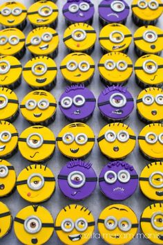 Minions Cup Cake by masam manis Cute Birthday Cakes, Minion Birthday, Minion Party, Birthday Ideas, Beignets, Character Cupcakes, Minion Cupcakes, Cheesecake, Halloween Cupcakes