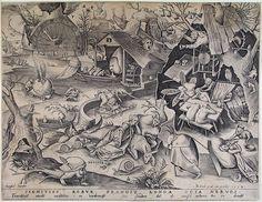 """Laziness"" Artist: Pieter Bruegel the Elder c. 1590"