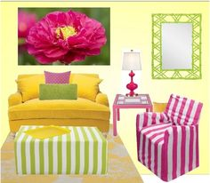 BenjaminMoore sun blossom #149 paint for this beautiful spring living room!