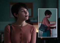 Mary's orange cardigan over teal blue skirt/dress on Once Upon a Time.  Outfit Details: http://wornontv.net/2739/ #OUAT